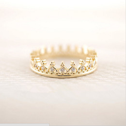 Wholesale Wholesale Square Plate - Products sell like hot cakes a new design of 18 k gold plated ring crown square ring women E - shine jewelry wholesale