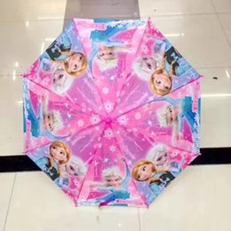 Wholesale Rain Gear Boys - Ins New Hot Moana Froze Umbrella Kids Boys Girls Love Rain Gear Sun Proof Umbrella Chrildren Christmas Gifts