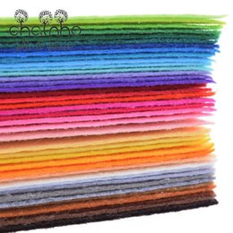 Wholesale Doll For Sewing - Nonwoven Fabric 1mm Thickness Polyester Felt Sheets Of Home Decoration Pattern Bundle For Sewing Dolls Crafts 40pcs 10x15cm