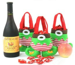 Wholesale Child Treats - Christmas Santa Elf Spirit Boots Candy Gift Outdoor Party Ornaments Sack Children Treat Bag Tree Decoration Brand New Hot Sales Supplies