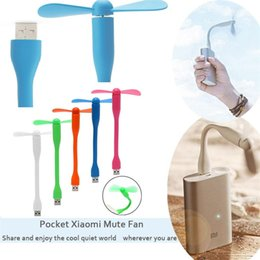 Wholesale Flexible Computer - USB Fans Gadgets Flexible USB Portable Mini Fans fridge cooler For Xiaomi Power Bank Notebook Laptop Computer Power-saving 2996