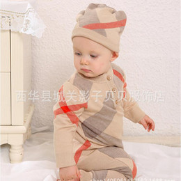 Wholesale Suits 3m - Retail Baby Romper spring clothing sweater clothing 100% cotton long clothing high quality children suit