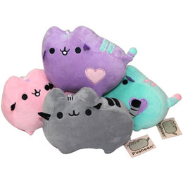 "Wholesale Kawaii Stuff Toys - 4 Style 4"" 10cm 2016 Kawaii Brinquedos New Small Pendant Pusheen Cat Keychain Stuffed Plush Animals Toys for Girls"