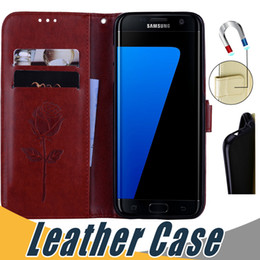 Wholesale A3 Red - Wallet Leather Case with Card Slot Flip Stand Case For Samsung A3 A5 2016 2017 S3 S4 S5 G530