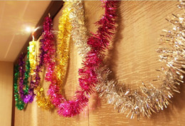 Decoração decoração de natal on-line-Natal Colorido fita de Natal Tira Colorida 2 M 6 cores Decorações Da Árvore Cachecol Festivo Layout da Cena Do Casamento Frete Grátis