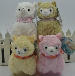 Wholesale Amuse Plush - Newest Japanese Arpakasso Alpaca Amuse Genuine Sheep plush toy alpaca with tags high Doll 4 colors Toy 12cm plush doll toy