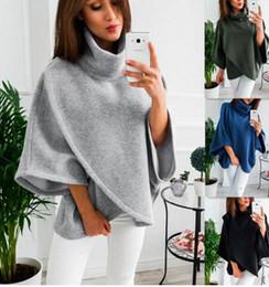 Wholesale Ladies Fleece Shorts - Winter new Women Hoodies Fashion Turtleneck Casual Short Jumper Pullover Batwing Sleeve Sweatshirt ladies Long Sleeve Crop Top