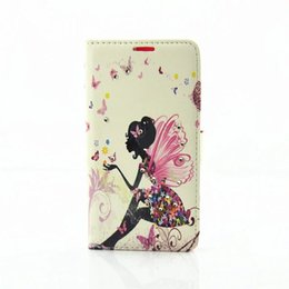 Wholesale Beautiful Drawings - New samsung NOTE6 coloured drawing or pattern diamond cell phone holster NOTE7 recent beautiful girl after clamshell case