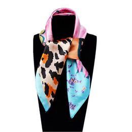 Wholesale Leopard Pendant Scarves - 60cm*60cm Women New Fashion Imitated Silk Brand Jewellery Pendant Printed Euro Leopard Square Scarf Hot Sale Scarves