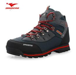 Argentina Zapatos de senderismo de los hombres Zapatos de escalada de cuero a prueba de agua Zapatos de los nuevos zapatos populares al aire libre Tamaño de acampada US7 - US10 Suministro