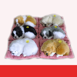 Wholesale Ce Dog - The 2017 explosion models 6 color simulation model dog dog ornaments gift nap cloth pad nap dog fur toy wholesale