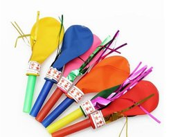 Wholesale Cheer Balloons - 50 pieces   lot Baby Balloons Blowouts Noise Makers,Kids Birthday Whistle Children Cheer Party Supplies Wedding Rattles Noisemakers and Gift