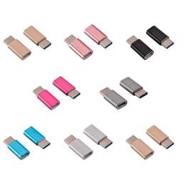 Huawei stecker online-Adapter Micro USB zu USB C Typ C Adapter Konverter Anschluss für Huawei P9 Typ C Konverter für Samsung Galaxy S8 S8 plus Hinweis 4 5 Nokia N1