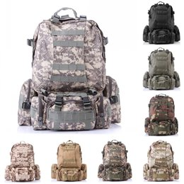 Wholesale Free 3d Golf - 3D Backpack Military Tactical For Men&Women Travel Bags Outdoor Sports Camping Hunting Backpacks 8 Color Free DHL E599L