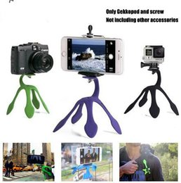Wholesale Phone Mount Stand Camera - Hot Gekkopod Portable Universal Flexible Gecko Mini Tripod Mount Multi Function Phone Camera Stand Octopus Spider Holder For CellPhone case