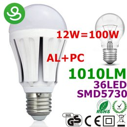 Wholesale E27 36led - LED E27 LED Bulbs UK E27 LED Lamp Lights Lighting 12W Aluminium + Plastic Dimmable 110V 220V 36LED 5730SMD 1010lm USACE Rohs