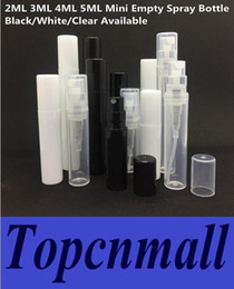Wholesale Sample Spray Perfume Bottles - 2ML 3ML 4ML 5ML Refillable Plastic Pump Spray Empty Sample Bottle Atomizer Container For Perfume Lotion Skin Softer 0.07 0.1 0.14 0.17OZ