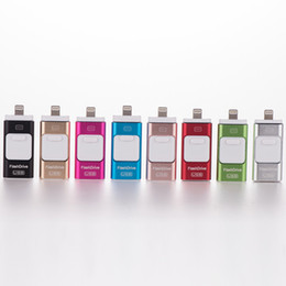 Wholesale 16gb Drive - 3 in 1 OTG USB3.0 Flash Drives 8GB-16GB-32GB-64GB Memory stick Pendrive i Flash Drive for iPhone 7 6 Samsung S7 S6 PC