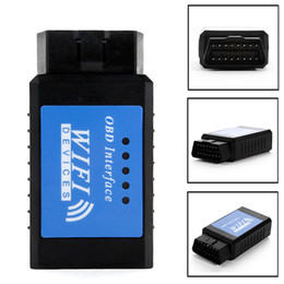 Wholesale Diagnostic Iphone - Auto Car ELM327 WiFi OBD2 OBDII Interface Car Diagnostic Scanner Code Reader Scan tools for iPhone ipad PC