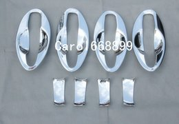 Wholesale Trimmer Bowl - Car styling Door Handle Cover Door Handle Bowl Trim Cup cap trim For 2015 2016 Nissan Qashqai