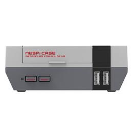 Porta della scheda sd online-NESPI CASE per caso Retroflag nespi Console di gioco retro di vendita calda stile Raspberry Pi 3, 2 e B + NES con porte audio HDMI Slot per scheda SD