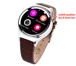 Wholesale Black Leather Camera Strap - 2016 Lastest Professional Round Touch Screen T3 Leather Strap Iwatch For Iphone And Android Support SIM SD Card Smart Watch