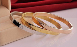 Wholesale New Style Ring For Gold - Big Brand New style fashion Design Oval Rose Gold Bangle set with flash CZ for men and women