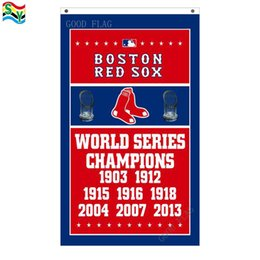 Wholesale Fly Banners - GoodFlag Free Shipping Boston Red Sox World Series Champions Flag 3ft x 5ft Polyester MLB Banner Flying Size No Outdoor Flag