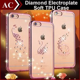 Canada De luxe Bling Diamond Electroplate Cadre Pare-chocs TPU souple Pour iPhone 5 SE 6 6S Plus Image série Clear Cover Back Protector Shell Offre