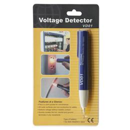 Wholesale Voltage Alert - VD01 LED Light AC Electric non-contact Voltage Tester Volt tester Alert Pen Detector Sensor 90-1000V electrical voltage tester IP54 IEC1010