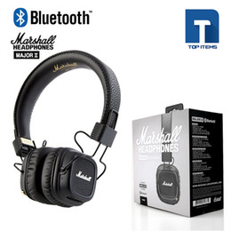 Wholesale Dj Monitor - New Arrival Marshall Major II 2 2nd Generation Bluetooth Headphones Noise Cancelling Headset Deep Bass Studio Monitor Rock DJ HiFi headphone
