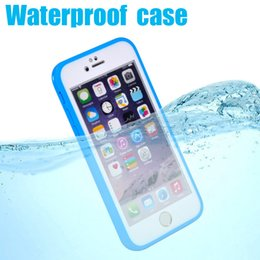 Wholesale Premium Water - Waterproof 100% Sealed Full Premium Screen Flexible TPU Rubber Gel ShockProof Case Cover Skin For iPhone 7 Plus 6 6S 5 5S Samsung S7 10pcs