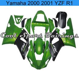 Wholesale Green R1 Fairings - Green Fairing Kit Fit for Yamaha 2000-2001 YZF R1 Plastic Bodywork Fit for Yamaha 00R1 2000 R1 2001 r1
