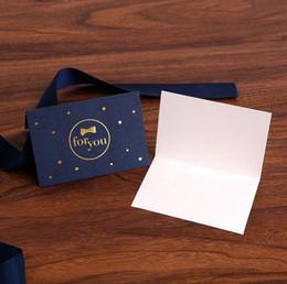 Wholesale Blue Wedding Cards Design - greeting cards paper for Birthday wedding team bride Party Decoration gift craft DIY favor baby shower kid royal blue for you design