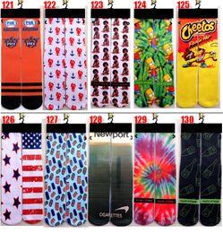 Wholesale Print 3d Printer - Wholesale-2016 up to date fashion popular 3d printer odd wink bottom thick towel socks wholesale men's basketball