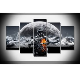 Wholesale battlefield figure - Battlefield 3 One Death Gameplay,5 Pieces Home Decor HD Printed Modern Art Painting on Canvas (Unframed Framed)
