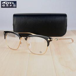 Wholesale Sheet Frames - Wholesale- New 2016 Luxury Optical Brand Frame SLUNTRADICTION Vintage Optical Frame Full Rim Eyeglass Frames Sheet Glasses Free shipping