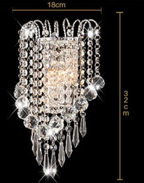 Wholesale mirror wall light crystal - Luxury Modern Crystal crown Bedroom Bedsides Wall Lamp Mirror Front Crystal Wall Sconces Corridor Balcony Hallway Wall Lights LLFA