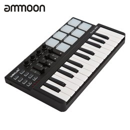 Wholesale Portable Keys - Wholesale- High Quality mini Portable Mini Keyboard and Drum Pad 25-Key USB MIDI Controller with Durable USB Cable