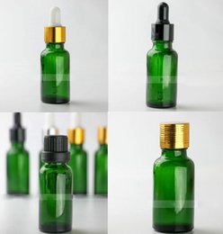 Wholesale Wholesale Green Glass Jars - Green 20ml Glass Dropper Bottles with Pipette 20 ml Empty Esssentail Oil Bottles 468pcs Lot Liquid Vials Jars Free DHL Shipping