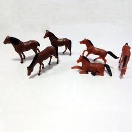 Wholesale Model Farm - 20pcs scale model horse miniature plastic horse farm horse scale 1:87 model horse