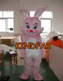 Wholesale Smiling Mascot - Wholesale-Smile Bugs bunny Rabbit Hare Mascot Costume Adult Size Fancy Dress Cartoon Outfit Suit Free Shipping