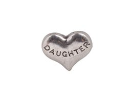 Wholesale Daughter Charms - 20 PCS Fashion Antiqued Silver DAUGHTER floating locket charms #92425