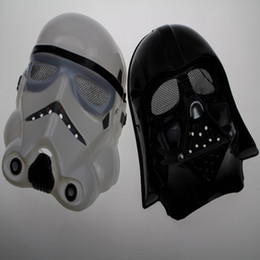 Wholesale White Horror Film Masks - Hot sale New Halloween Festival horror mask Star Wars the Darth vader mask black and white 2 color