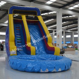 Wholesale Pool Inflatable Slides - Classic design best quality inflatable pool water slide kids outdoor equipment inflatable water slide with pool for sale