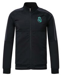 Wholesale Soccer Trainning - 17 18 real madrid tracksuit training sweater suit N98 2017 2018 real madrid trainning sweater top jacket RONALDO