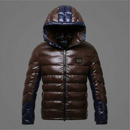 Wholesale Warm Short Coats - Wholesale- Men's jacket Coat 2017 new men thickening warm winter fashion euramerican style shiny spell have cap down cotton-padded clothes