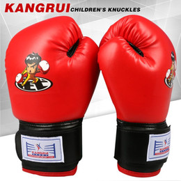Wholesale Kids Gloves Cheap - Cheap KB311 KANGRUICHIL Blue color children kids funy training non professional muay thai fighting boxing gloves