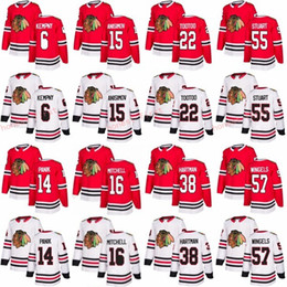 Wholesale John 16 - 2018 New Blackhawks Jerseys Chicago 16 John Mitchell 55 Mark Stuart 57 Tommy Wingels 6 Michal Kempny 14 Richard Panik 22 Jordin Tootoo Red W