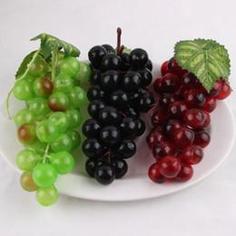 Wholesale Decorative Artificial Grapes - Lifelike Artificial Grapes Plastic Artificial flowers Fake Decorative Fruit Food simulation fruit vegetables Home Decor